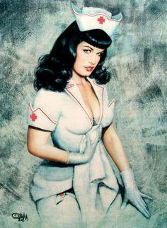 Sexy Nurse - Bettie Page