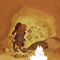 Cro Magnon, Art Pariétal, Art Rupestre, Social Studies Projects, Early Humans, Teaching History, Stone Age, Fossils, Trees To Plant