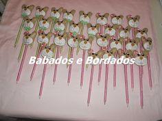 Babados & Bordados: Ponteira para lápis : Tema Ursinha(o)