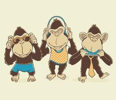 """Modern day """"No-Evil"""" Monkeys"""