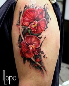 top 10 orchid tattoo designs rose tattoos tattoo and flower tattoos. Black Bedroom Furniture Sets. Home Design Ideas