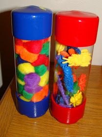 """You can find these containers in the """"Screw Isle"""" at Home Depot. Great for storage or creating a fine motor activity! Can somebody say sensory bottles!"""