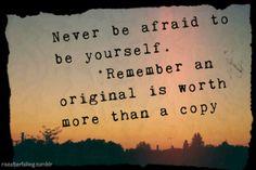 Be original