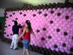 Sugestões de decoração: Paredes de balões - YouTube