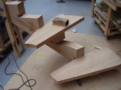 Escalier 5 marches en lamellé collé chêne (suite)