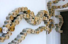 Yvette Hawkins creates large-scale book art installations