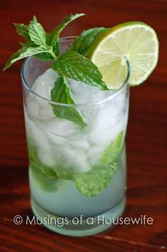 Mojito anyone? A kind of cuban twist on the mint julep:) Refreshing as a dip in a pool on a hot summer day:)