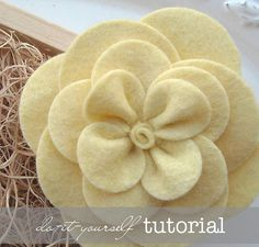"Felt Flower Pattern Tutorial - ""Gardenia"" - PDF Instructions emailed to you within 24 hours - do-it-yourself How To Directions"