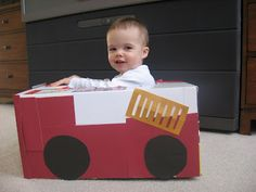 "Cute box-car idea.   Included on page are 7 other activities  1 year old {and older kids too.} - website ""No time for flashCards"""
