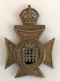 Queen's Westminster Rifles 16th Battalion County of London Regiment Cap Badge