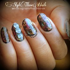 Style Those Nails: Abstract Distressed Nails- Inspired by Chalkboard Nails