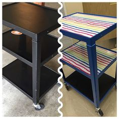 My kids are going to be doing their school-wide jobs in style this year! Special education classroom makeover - DIY rainbow cart - Supports for Special Students Life Skills Classroom, High School Classroom, New Classroom, Special Education Classroom, Classroom Decor, Art Education, Teacher Cart, Teacher Office, Teacher Tips