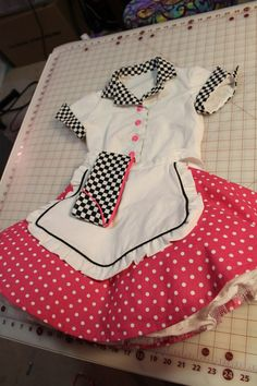 Car Hop Kids Poodle Skirt Costume Girls 50's by DaFabricAteHer