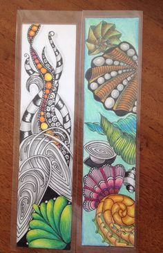 2 out 3 bookmarks that I am makeing for a international swap. Not ready yet :)