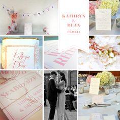 pink + grey + wedding
