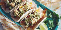 Cauliflower Tacos with Mango Slaw and Avocado Crema