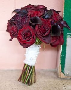 My bouquet minus the rhinestone that will be added