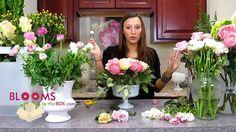 Make a Romantic Ranunculus Centerpiece, via YouTube.
