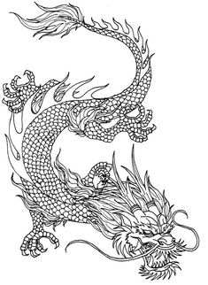 Chinese Imperial Dragon by Kerberos-of-Hades on DeviantArt Neck Tattoo For Guys, Dragon Tattoo For Women, Dragon Tattoo Designs, Tattoos For Guys, Dragon Tattoo Drawing, Dragon Sleeve Tattoos, Tattoo Drawings, Chinese Dragon Drawing, Japanese Dragon Tattoos
