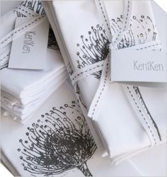 Shop South African Design | 4 Pincushion Napkins | Meekel