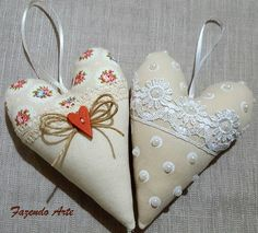 Butterfly Cross Stitch, Thread Art, Heart Crafts, Doll Patterns, Cross Stitch Patterns, Valentines Day, Sewing Projects, Christmas Ornaments, Country
