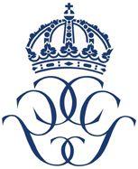 monogram królewski króla Szwecji Karola XVI Gustawa i królowej Sylwii