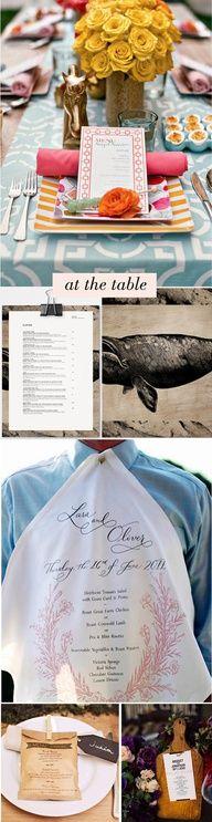 Looove the napkin menu!!!!