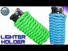 How to make a Paracord Lighter Holder - Paracord Lighter Wrap - Fast and Easy for Outdoors activity - YouTube