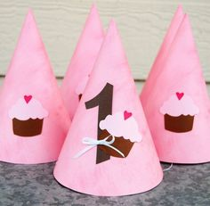 cupcake party hats