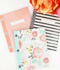 DIY Eyelet Bound Notebooks