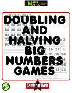Factoring: Halving and Doubling Big Numbers Games | Student ...