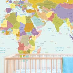 On the lookout for fun wallpaper ideas this bright and wonderful contemporary grey world map wallpaper mural wallpaper mural at gumiabroncs Image collections