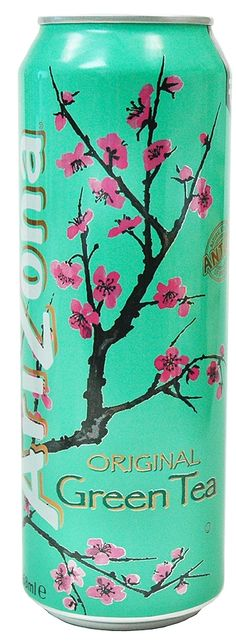 Arizona Green Tea, beautiful can.