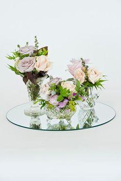 hire set of 3 vases & mirror