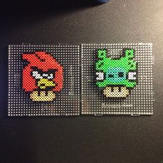 made by sajagee angry birds mushroom perler bead patterns