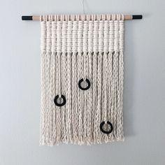#macrame #woven #wallhanging #blackandwhite #ceramics #hollymuellerhome