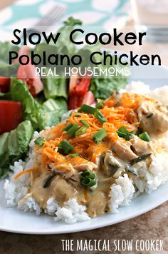 Slow Cooker Poblano Chicken | Real Housemoms