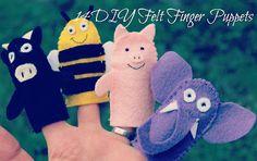 14 Felt Finger Puppets