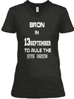 Bron In September Black T-Shirt Front