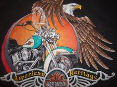 camiseta Vintage águila HaRLEY DaVIDSON camisa American Heritage XL MeMPHIS TN