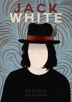 Alternative Jack White gig poster. #JackWhite #Cracow #Lazaretto #Blunderbuss…