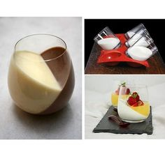 Sweetooth Design: Blog for Creative Ricette Dolci & Storia Knowledge | Dessert inclinata: Pudding / Yogurt / Jello / Gelee / Panna Cotta