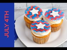 4TH OF JULY CHEVRON CUPCAKE TOPPERS TUTORIAL