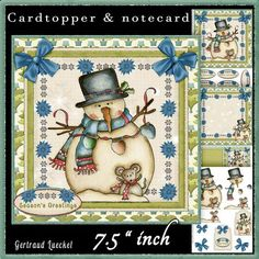 Country Christmas Cardtopper Kit 511 on Craftsuprint - View Now!