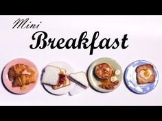 Easy Breakfast; PB & J Sandwich, Egg In a Hole & Pancakes - Polymer Clay Tutorial - YouTube