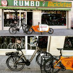 Podemos con las electricas también. #Bikerevolution #BicicletasRumbo Www.urbanciclo.es - Tw: @urbancicloalba- f: Urban Ciclo - Instagram: @urbanciclo #urbanciclo #ecomensajeria  #Albacete #cargobike #bicimensajeria #bikemessengers #bullitteer #bullitt #bullittlife #messlife #bikecourier #transportesostenible cargo bike ciclologistica sostenible