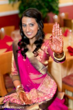 An Indian bride and groom celebrate at their pre-wedding celebrations. Indian Marriage, Indian Bride And Groom, Indian Wedding Invitations, South Indian Weddings, Mehndi Photo, Wedding Website, Mehndi Designs, Celebrity Weddings, Indian Fashion