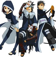 Rin, Menma and Obito