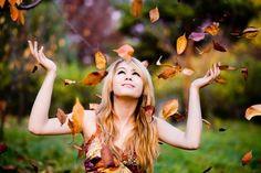 I love falling leaves