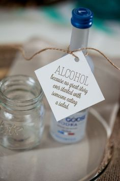 12. Alcohol #Wedding #Favors